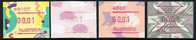 STAMPS from AUSTRALIA  SELLECTION of  FRAMA STAMPS  4x 1c   (MNH) lot 389