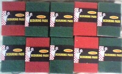 "100 Scouring Pads Wholesale Lot ''closeout""  Size 5-/12 X 3""..scours,, Cleans,"