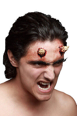 Evil Devil Small Horns - Two Latex Prosthetic Wound Application Halloween Horror