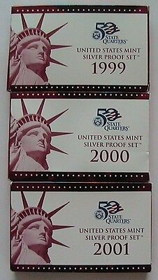 1999-2009 United States Mint Silver Proof Sets - Complete
