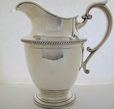 "Hunt Sterling Silver Water Pitcher #550 Monogrammed ""mpw"""