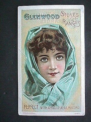 Glenwood Stoves And Ranges Collectible Antique Victorian Trade Card