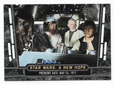 2017 TOPPS STAR WARS 40th ANNIVERSARY A NEW HOPE 1-200 COMPLETE BASE SET