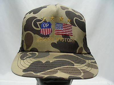 Union Pacific - Desert Victory - Camouflage - Vintage - Snapback Ball Cap Hat!