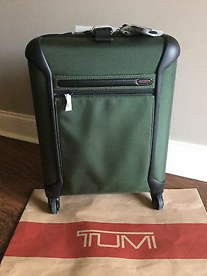 Tumi Alpha Lightweight Continental 4 Wheeled Carry On Luggage 28521 Spruce Green