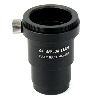 1.25'' 2X Barlow Lens+M42x0.75 Thread Camera Connect Interface for Telescope US