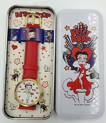 Unused Betty Boop Nurse Wristwatch in Original Tin Box