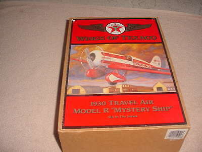 """Wings of Texaco Die Cast 1930 Travel Air Model R """"Mystery Ship"""" 5th In Series"""