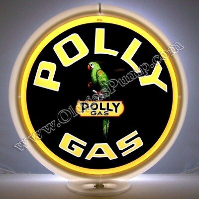 POLLY GASOLINE GAS & OIL PUMP GLOBE SIGN Free Shipping