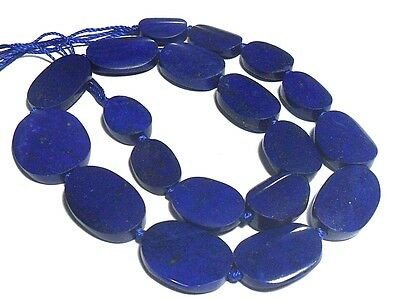 282ct Top Quality ROYAL BLUE Afghanistan Lapis Lazuli Huge Oval Bead Strand 16""