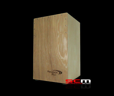 New Padded Bag Included Natural Percussion Plus Cajon Wooden Rhythm Box Drum