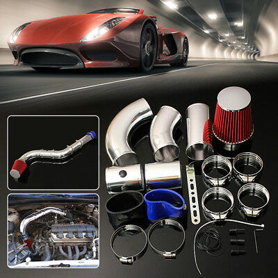 3'' 76mm UNIVERSAL PERFORMANCE COLD AIR FILTER INDUCTION INTAKE PIPE HOSE KIT
