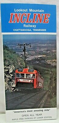 Vintage Brochure Lookout Mountain Incline Railway Chattanooga Tennessee