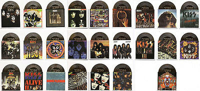 KISS ALIVE Neca 2001 die cut GOLD ALBUM Card SINGLES  A 1 - 25 choose