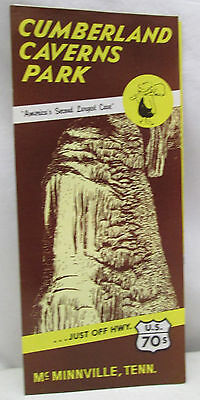 Vintage Brochure Cumberland Caverns Park Second Largest Cave McMinnville Tenn.