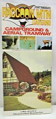 Vintage Brochure Raccoon Mtn Caverns Campground & Aerial Tramway Chattanooga TN