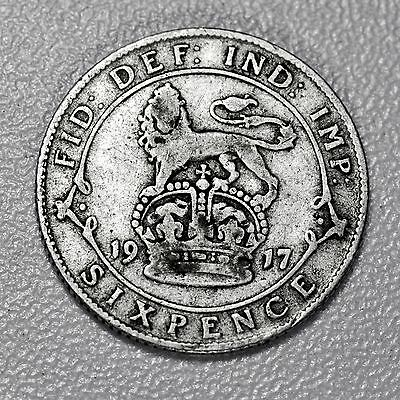 """LUCKY """"100th"""" CELEBRATION SILVER SIXPENCE    1917 - PERFECT FOR A 2017 WEDDING!"""