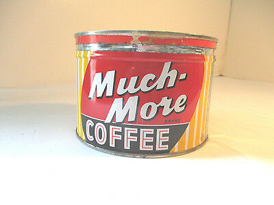 Vintage Much-More Coffee Tin W/lid Chicago Estate Buy No Reserve