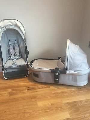 Joolz Carrycot & Seat Unit In Grey/Silver