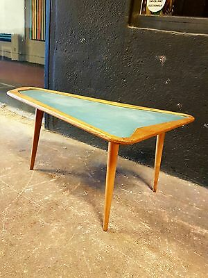 André Ramos Rare Table Basse Forme Libre Chene Formica Années 50