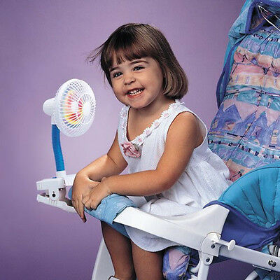 Kel Gar Pinwheel Clip On Buggy Fan Baby Pram Stroller High Chair Cool Air Breeze