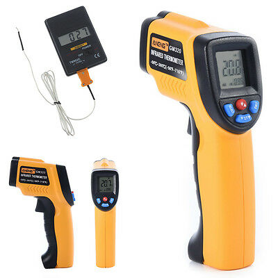 Laser Digital Non contact LCD Pyrometer Temperature Gun Infrared Thermometer