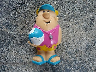 Older 1990 Hanna Barbera Flintstones Beach Barney Rubble PVC Figure Cake Topper