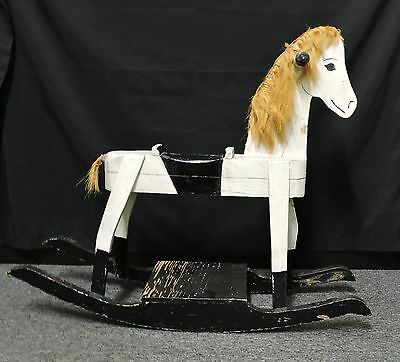 """Vintage Hand Made Wooden Rocking Horse-25"""" Tall"""