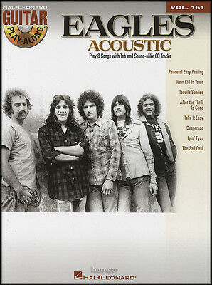 The Eagles Acousitc Guitar Play-Along Volume 161 TAB Sheet Music Book/CD