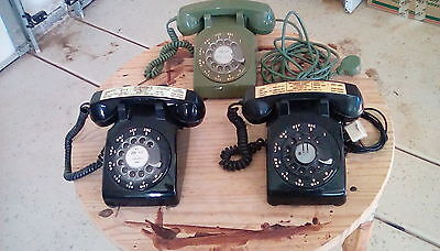 3 VINTAGE R/DIAL TELEPHONES WESTERN ELECTRIC. Lot, Ends in 2 day's !