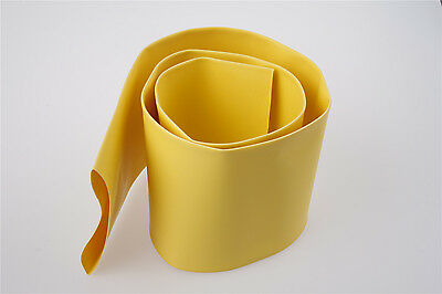 Yellow 70mm Diameter 2:1 Polyolefin Tube Sleeve Heat Shrink Tubing 1M
