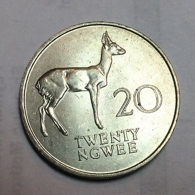 ZAMBIA 1968 20 Ngeee  coin uncirculated