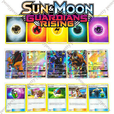 ! NEW ! 8+1 Pcs Pokemon Trading Card Game Sun and Moon Ultra Holo GX Flash Cards