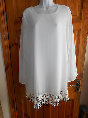 Ladies long evening / party chiifon top size 14
