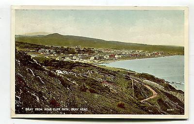 Bray Head - view from Bray from near cliff path - c1930's postcard