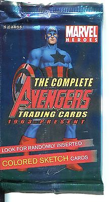 Marvel The Complete Avengers Factory Sealed Hobby Packet / Pack