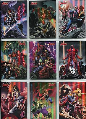 The Complete Avengers Complete Earths Mightiest Heroes Chase Card Set MH1-18