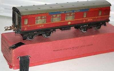 HORNBY SERIES O GAUGE No 2 CORRIDOR  COACH LMS BOXED