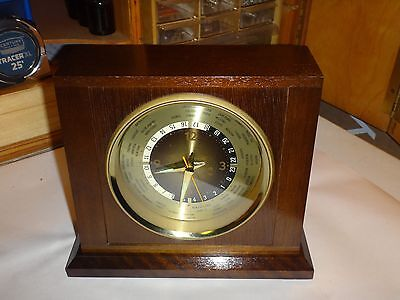 Vintage Bulova Quartz World Clock-Excellent Condition And Working