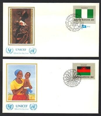 Un 1988 Coll Of 8 Flags Of American Moslem Countries With Color Cachets Nigeria
