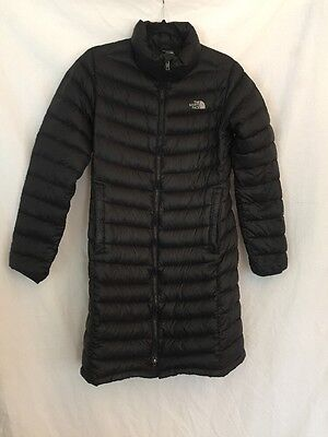 North Face Woman's 700 Series Long Down Black Coat Size Medium