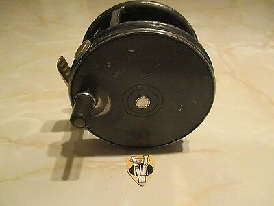 Vintage Hardy Perfect RHW 3 3/4 Inch Wide Body Salmon Fly Reel
