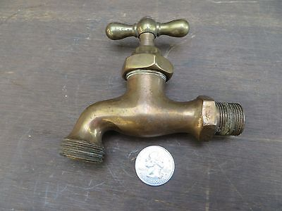 Old Antique Outdoor Brass Water Garden Hose Knob Faucet Spigot Steampunk Vintage