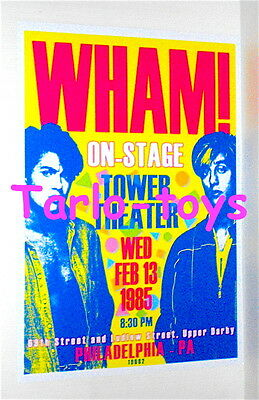 WHAM! George Michael - Philadelphia, Usa 13 february 1985  - concert poster