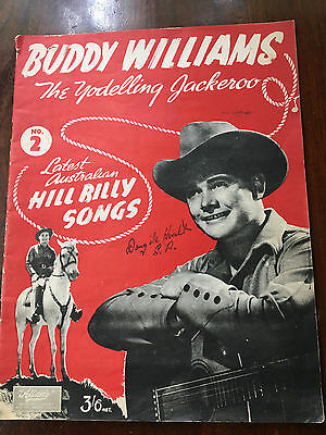 BUDDY WILLIAMS - Latest Australian Hillbilly Songs, Sheet Music Book