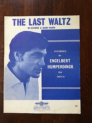 ENGELBERT HUMPERDINCK - The Last Waltz. Australian Sheet Music