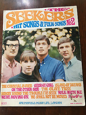 THE SEEKERS - Hit Songs & Folk Songs No 2, UK Sheet Music Book