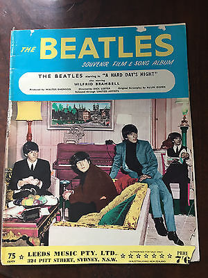 THE BEATLES - A Hard Day's Night. Australian Sheet Music Book