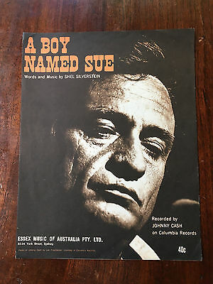 JOHNNY CASH - A Boy Named Sue. Australian Sheet Music
