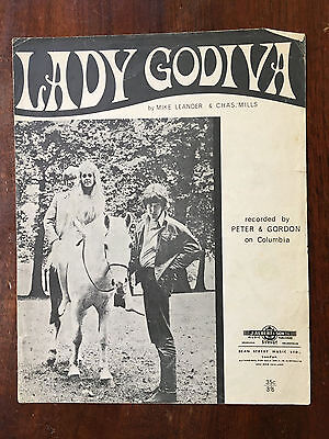 PETER AND GORDON - Lady Godiva. Australian Sheet Music